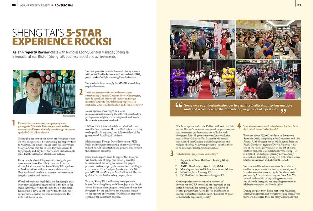 Asian Property Review – Sheng Tai International